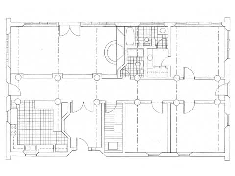 Bow Truss House I, floor plan