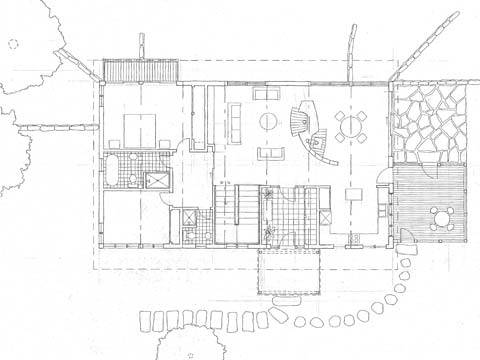 Bow Truss House II, first floor plan