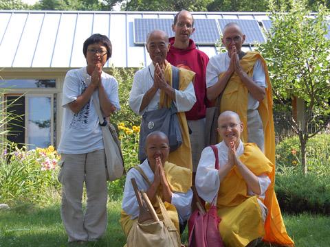 Buddhist monks visit Inglese residence