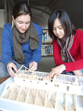 Interns Brienne & Aiko work on QTH model