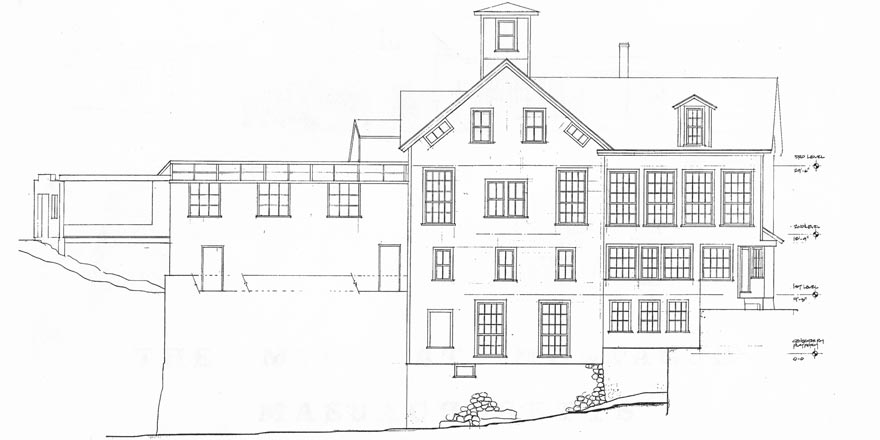Montague Book Mill, east elevation