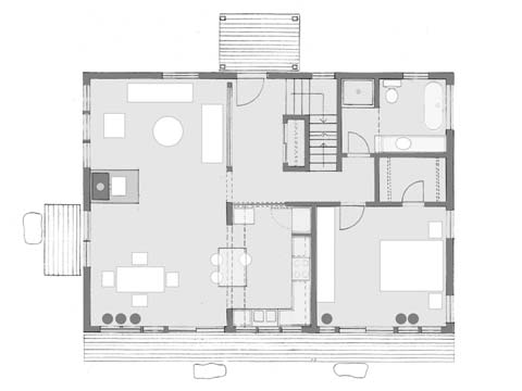 Perfect Cape, first floor plan