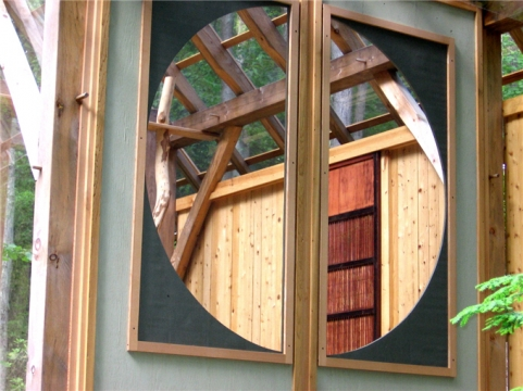 Tea House round window