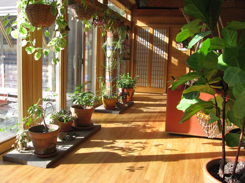 Inglese Queen Truss House passive solar + plants