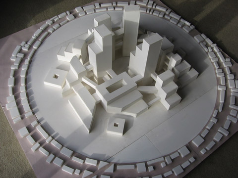 Andromeda, foam core model